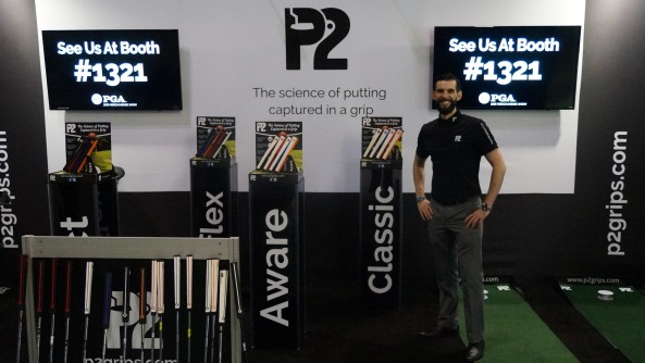 Enda on P2 stand at PGA show 1