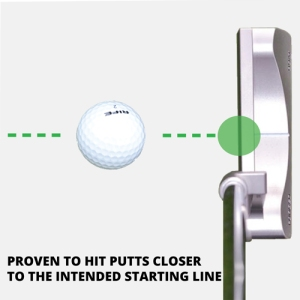Proven To hit putts closer to the intendedstarting line