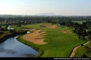 Hole 13, par 5. Angkor Golf Resort, Kasekam Village, Sra Nga, Siem Reap, Cambodia. Mandatory credit: Richard Castka/Sportpixgolf.com