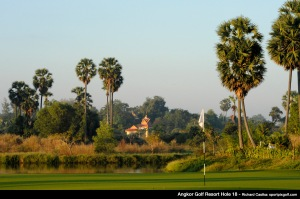 Hole 18, par 4. Angkor Golf Resort. Mandatory credit: Richard Castka/Sportpixgolf.com